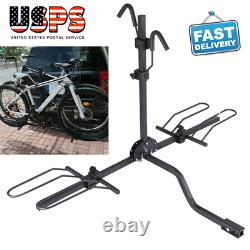 2 Bike Bicycle Carrier Hitch Receiver 2' Heavy Duty Mount Rack Truck SUV