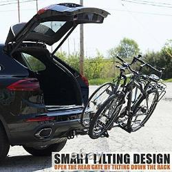 2-Bike Bicycle Hitch Mount Rack Carrier for Car Truck SUV Tray Style Smart
