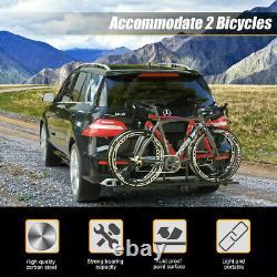 2 Bike Car Mount Bicycle 2 Hitch Carrier Platform Rack Truck SUV Heavy Duty