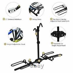 2 Bike Carrier Platform Hitch Rack Bicycle Rider Mount Sport Fold Receiver 2
