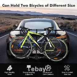 2 Bike Carrier Platform Hitch Rack Bicycle Rider Mount Sport Fold Receiver 2 in