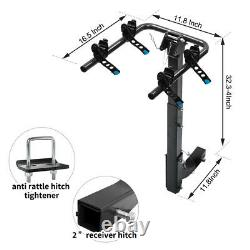 2-Bike Carrier Rack Premium Hitch Mount Swing Down Bicycle Rack With 2 Receiver