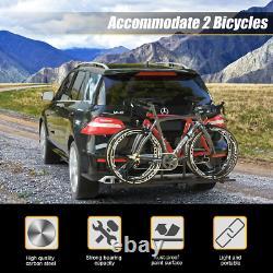2 Bike Rack Car Truck RV SUVS Hitch Sturdy Mount Mountain Bicycle BMX Carrier