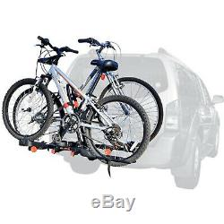 2-Bike Rack Hitch Mount Carrier Trailer Car Truck SUV Receiver Bicycle Transport