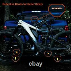 2 E Bike Hitch Mounted Bike Rack Carrier for 2-inch Receivers Fits Up to 2
