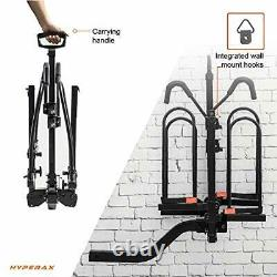 2 E Bike Hitch Mounted Car Bike Rack Carrier for 2-inch Receivers Fits Up to