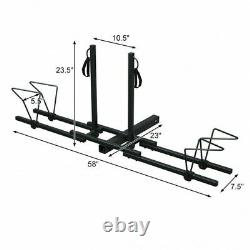 2 Heavy Duty Hitch Mount Bike Back Rack Carrier With Straps Easy To Use
