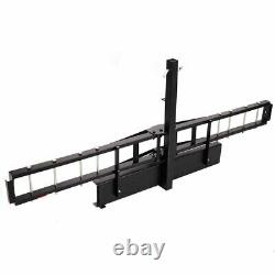 2 Receiver Hitch Mounted Steel Motorcycle Scooter Carrier Mount Rack Black