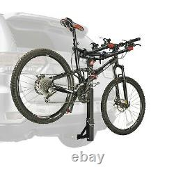 3-Bicycle Foldable Trailer Hitch Mounted Bike Rack Carrier Powder-coated For Car