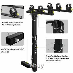 3-Bike Carrier Rack Hitch Mount Premium Swing Down Bicycle Rack With2Receiver