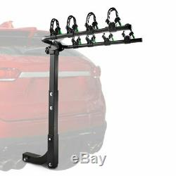 4-Bike Carrier Rack Hitch Mount 2 Receiver Swing Down Bicycle Car Truck SUV
