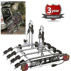 4 Bike Platform Cycle Carrier 60KG Load Carrier Electric Bikes Adult Children