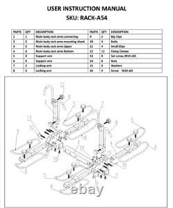 4-Bike Platform Style Bicycle Rider Hitch Mount Carrier Rack Sport 2 Receiver