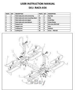 4-Bike Platform Style Bicycle Rider Hitch Mount Carrier Rack Sport Receiver 2