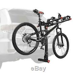 5-Bicycle Hitch Mounted Bike Rack Carrier Deluxe Locking Quick Install 552QR