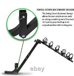 5 Bike Rack 2'' Hitch Receiver Mount Heavy Duty Bicycle Carrier Racks Foldable