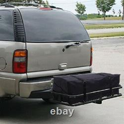 500LBS Foldable Hitch Cargo Carrier Mounted Basket Luggage Rack Fits 2 Receiver
