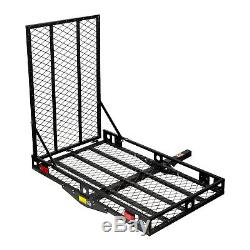 500Lbs Heavy Duty Mobility Carrier Wheelchair Scooter Ramp Rack Hitch Mount US