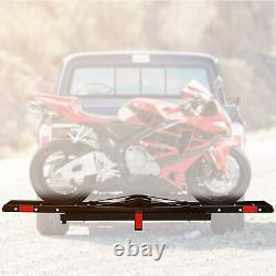 500lb Motorcycle Carrier Rack Dirt Bike Hauler 2 Hitch Mount with Portable Ramp