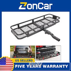 500lbs Hitch Mounted Folding Cargo Carrier Car SUV Truck Basket Luggage Durable