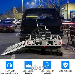 50x29.5Aluminum Cargo Carrier With Ramp Hitch-Mounted Mobility Carrier Hauler