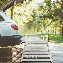 50x29.5Aluminum Cargo Carrier With Ramp Hitch-Mounted Mobility Carrier Vehicle