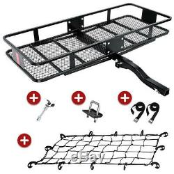 550LBS Folding Hitch Mounted Cargo Carrier Luggage Basket Fits 2 Receiver
