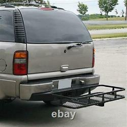 59x20.5 Hitch Mount Cargo Carrier Rack Extension Basket Folding Luggage Holder