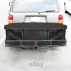 60 Cargo Carrier Hauler Hitch Mounted Receiver Luggage Basket + Cargo Bag Combo