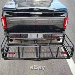60 Folding Hitch-Mount Cargo Carrier Basket Luggage Rack for Dodge Chevrolet US