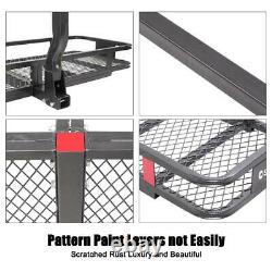 60 Mounted Folding Truck Car Cargo Carrier Basket Luggage Rack Hitch Travel