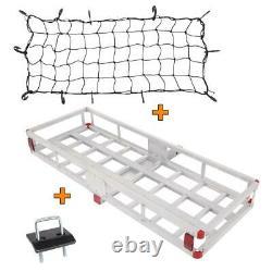 60 x 22 Aluminum Hitch Mount Cargo Carrier Truck Luggage Basket 500LBS+Bag+Net