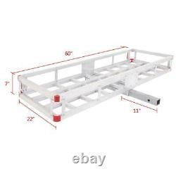 60 x 22 Aluminum RV 2 Hitch Mount Cargo Carrier Truck Luggage Basket +Bag+Net