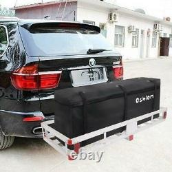 60 x 22 Cargo Hauler Carrier Hitch Mounted Receiver Luggage Basket + Bag Combo