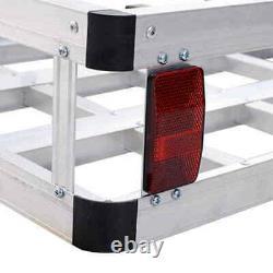 60 x 22 RV 2 Hitch Mount Cargo Carrier Car SUV Truck Luggage Basket 500LBS