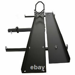 600 LBS Heavy Duty Motorcycle Carrier Dirt Bike Rack Hitch Mount Hauler with Ramp
