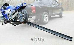600 LBS Steel Motorcycle Scooter Carrier Cargo Ramp for Hauler Hitch Mount Rack
