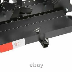 600lb Motorcycle Carrier Dirt Bike Rack 2 Hitch Mount Hauler with Loading Ramp