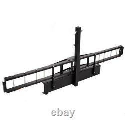 600lbs Hitch Mounted Steel Motorcycle Carrier Scooter Hauler Bike Rack Ramp USA