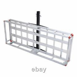 60x22 Aluminum Cargo Carrier Luggage Rack Basket Car RV 2 Hitch Mount 500LBS
