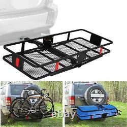 60x24 Hitch Mount Cargo Carrier Car SUV Hauler Luggage Basket Rack 2 Receiver