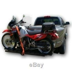 ALEKO Hitch Mounted Sport Motorcycle Carrier 79 Long Hauler Rack Ramp 600Lb