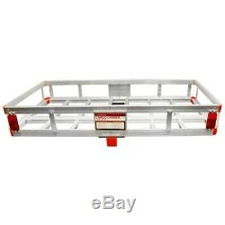 Aluminum 500 LB Mount Cargo Rack Carrier 2 Hitch Receiver Basket Truck Luggage