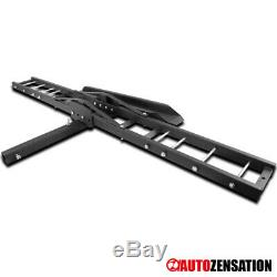 Anti-Tilt Motorcycle Scooter DirtBike Carrier Hitch Rack Ramp Mount SUV Trunk X1