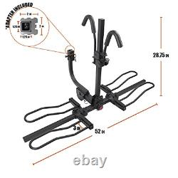 BV 2-Bike Bicycle Hitch Mount Rack Carrier for Car Truck SUV Tray Style Sma