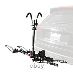 BV 2-Bike Bicycle Hitch Mount Rack Carrier for Car Truck SUV Tray Style Smart
