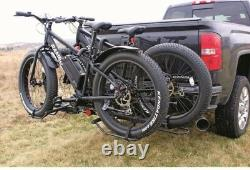 Bike Carrier Hitch For 2 Fat Tire Padded Carrier Bicycles Capacity Truck SUV