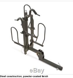 Bike Carrier Hitch For 2 Fat Tire Padded Carrier Bicycles Capacity Truck SUV S