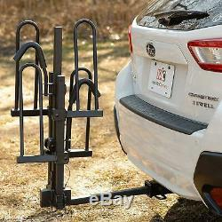 Bike Carrier Hitch For 2 Padded Carrier Bicycles Fat Tire Capacity Truck SUV NEW
