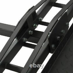 Black Motorcycle Scooter DirtBike Carrier Hauler Hitch Mount Rack Ramp Anti Tilt